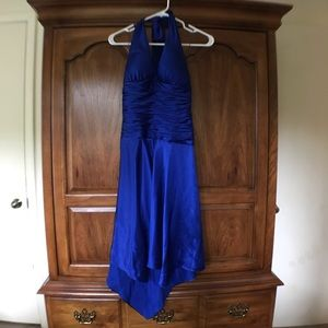 Royal Blue Halter Dress
